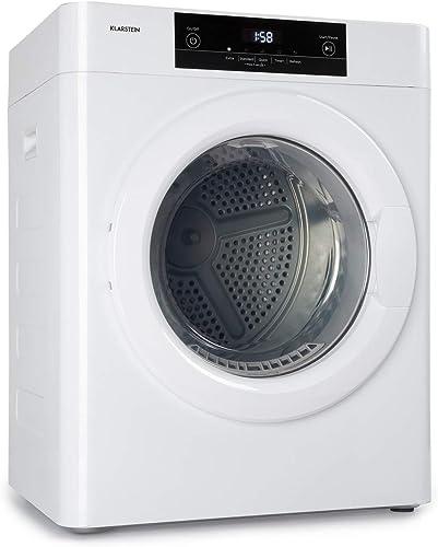 KLARSTEIN UltraDry - Sèche-Linge par Extraction, 1250W, Chargement Frontal, sur Pied/encastrable, Classe C, IPX4, 3 k...