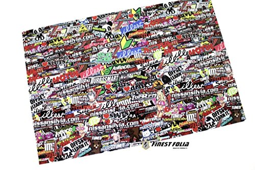 Finest-Folia RC 1:10 CAR Stickerbomb Folie Aufkleber Heli Boot Skull Decal Sticker Drift R019