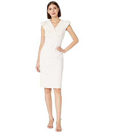 Calvin Klein Puff Sleeve Sheath Dress (Blossom) Women