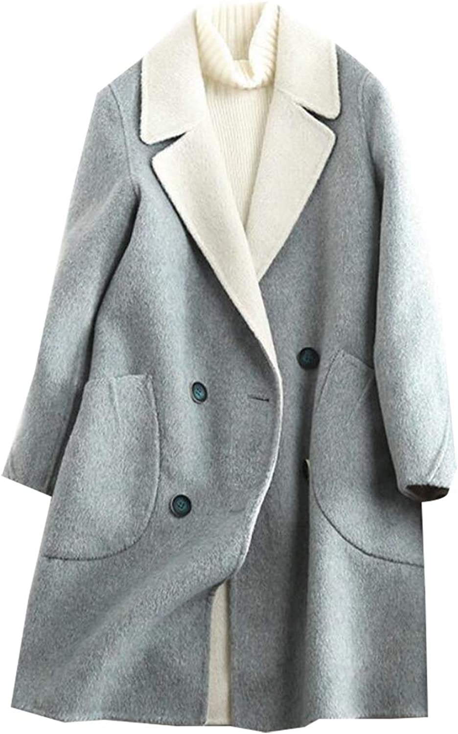 Esast Womens Winter Double Breasted Trench Coat Chelsea Tailoring Overcoat