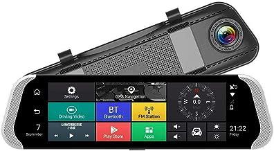 TOOGOO 10 Inch 4G Car Rearview Mirror Dvr Camera Dual Lens Android 5.1 Dash Cam App Adas Warning Bluetooth Dual Lens G-Sensor Dvr