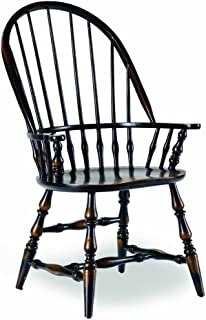 Hooker Furniture Sanctuary Windsor Dining Arm Chair in Ebony (Set of 2)