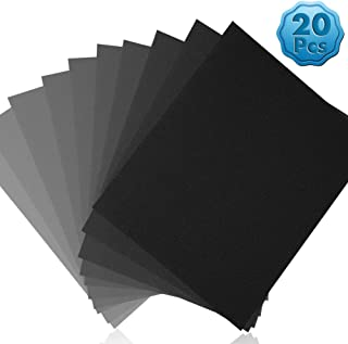 "Sand Paper Assortment, Cridoz Wet Dry Sandpaper Fine Grit Sandpaper 9 x 11"" Sanding Paper 10000 7000 5000 3000 2000 1500 1..."