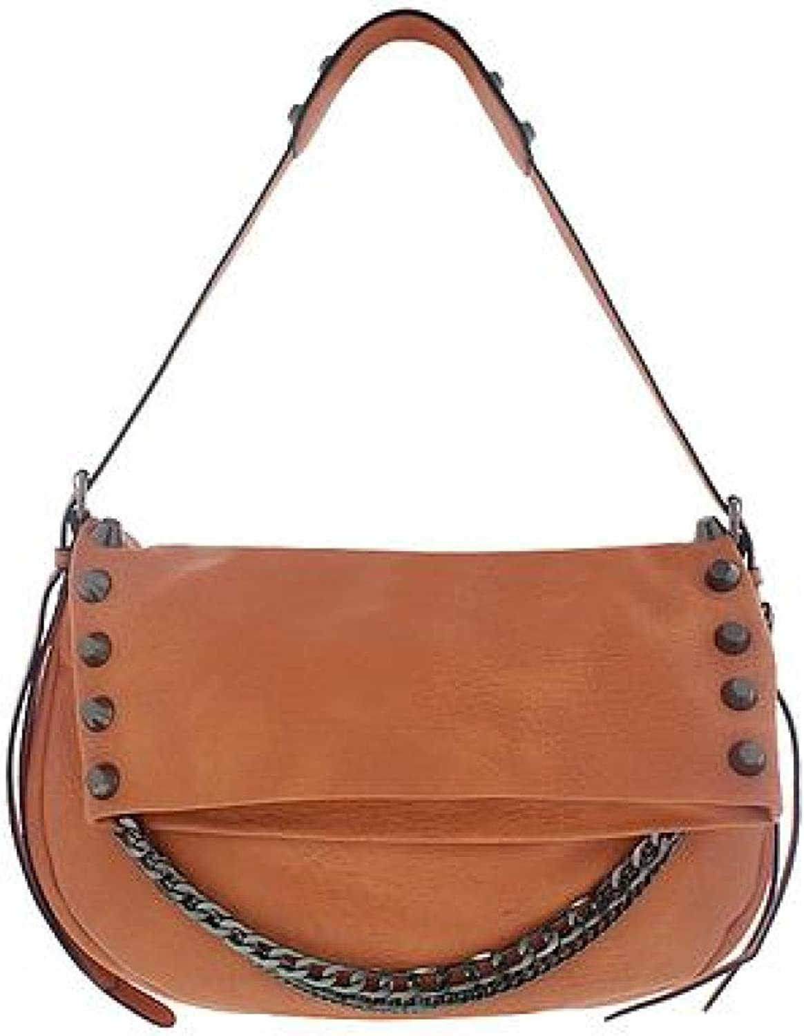 MELIE BIANCO Tessa Crossbody Satchel with Metal Studs & Chain Detail