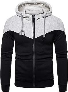Mens Fashion Zipper Hoodie Pullover - Casual Sweatshirt Sport Jackets