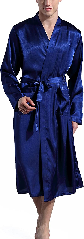 Mens Satin Ranking TOP19 Lightweight Soft Kimono Loungewear At the price of surprise Robe Pajama Ba Spa