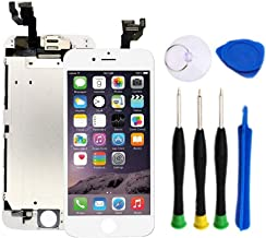Premium Screen Replacement Compatible with iPhone 6 Plus 5.5 inch(Model A1522, A1524, A159) with Front Camera, Ear Speaker...