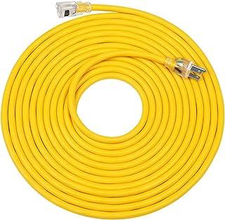 DEWENWILS 25 FT 12/3 Gauge Indoor/Outdoor Extension Cord with Lock, SJTW 15 Amp Yellow Outer Jacket Contractor Grade Heavy...