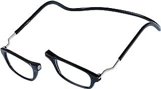 Magnetic Reading Glasses Plastic 2.5 Black