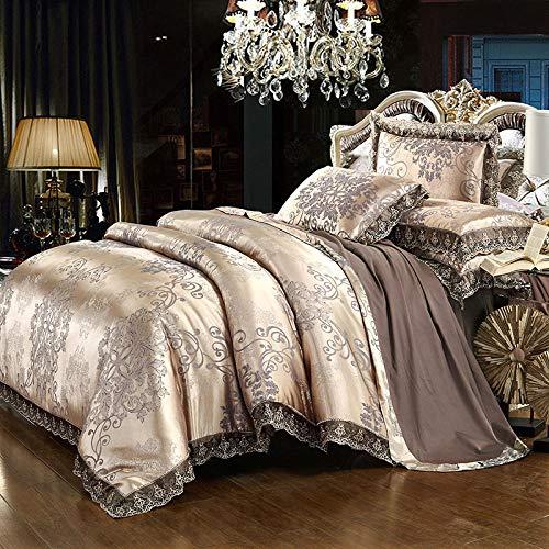 juegos de sábanas infantiles 105,EUROPEO TIANSI Algodón Satin Jacquard Cuatro sets, algodón se utiliza para la cama de la cama de 1,8 m de la cama, usado en el hotel familiar Habitación infantil Día