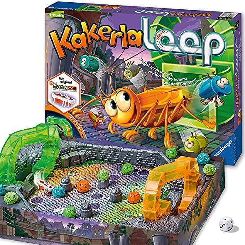 Ravensburger Kinderspiel 21123 - Kakerlaloop - Aktionsspiel mit elektronischer Kakerlake für Groß und Klein, Familienspiel für 2-4 Spieler, geeignet ab 5 Jahren