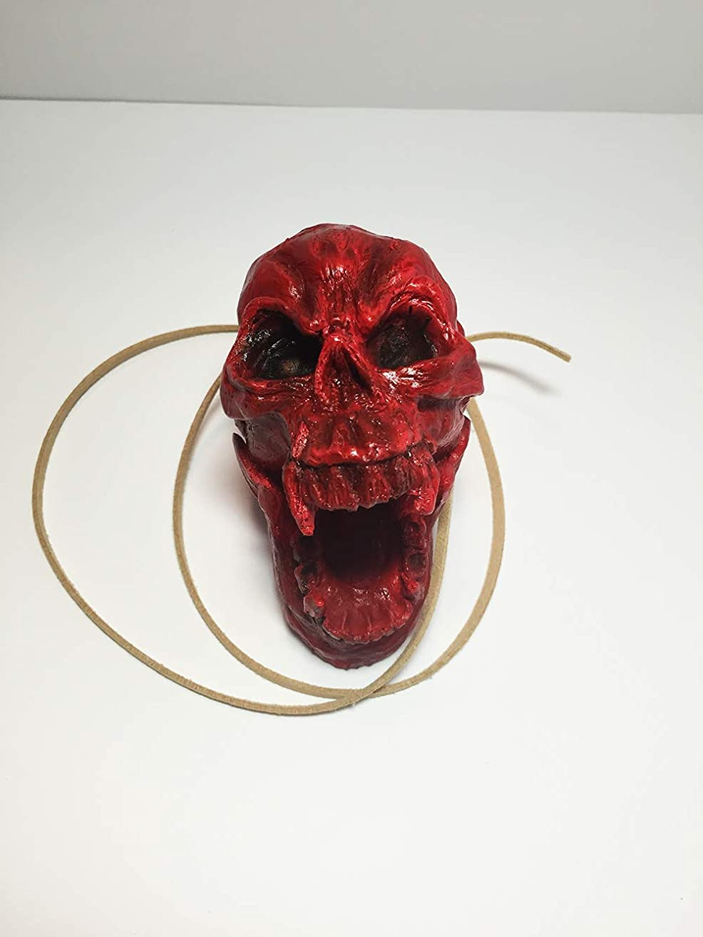 Aztec Death Whistle - Skull Blood Red