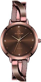 Fitron Dress Watch For Women Analog Alloy - 8777L