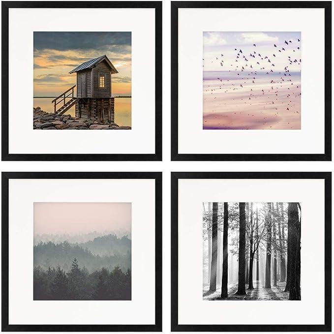 5451 opinioni per Photolini Set di 4 cornici per Poster da 30x30 cm con passe-partout 20x20 cm