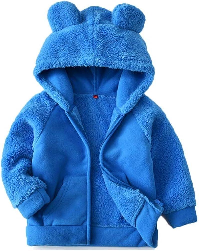 Kids Over item handling ☆ Fleece OFFicial mail order Hoodie Jacket Faux Stitch Fur Girl for