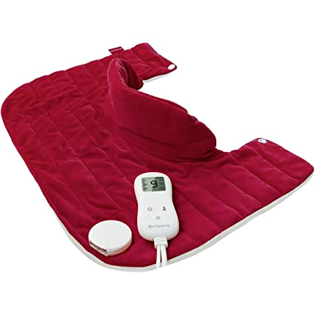 """Weighted Heating Pad for Neck and Shoulders Pain Relief, Comfytemp 1.5lb Electric Heated Neck Wrap for Cramps with 9 Heat Settings, Stay on & 5 Auto-Off, Memory Function, Weighted Beads - 14""""x20"""""""