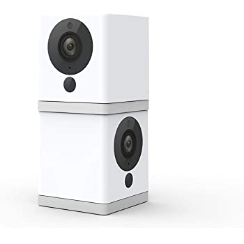 Wyze Cam 1080p HD Indoor Wireless Smart Home Camera with Night Vision, 2-Way Audio, Works with Alexa & the Google Assistant (Pack of 2), White - WYZEC2X2