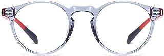 Blue Light Blocking Glasses for Women Men, TR90 Lightweight Retro Round Eyeglasses Frame Anti UV Computer Game Glasses