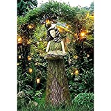 Futterstationen für Wildvögel,Elfen Gartendeko Gartenfiguren Fee Deko,Ornamente für Terrasse, Vorgarten, Rasen,Steht 11,8 'groß (A)
