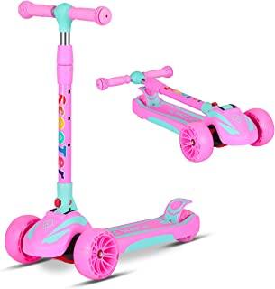 SDSPEED Kick Scooter for Kids Extra Wide Wheels(Safety First) Scooter 3 Height Adjustable Wide Deck Best Gifts Kids, Boys Girls