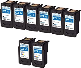 ESTON Remanufactured for Canon PG-210XL CL-211XL Ink Cartridges High Yield - 8Pack(6Black, 2Tri-Color), Fit for Canon PIXMA MP495 IP2700 MP490 MP480 MP280 MX330 MX340 XM410 MX420 MX350 Printer