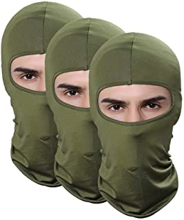 Pack of 3 Lycra Elastic Outdoor Airsoft Helmet Sun Balaclava Ski Fishing Motorcycle Face Mask For Men