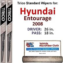 2008 hyundai entourage wiper blade size