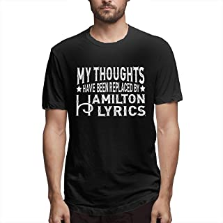 My Thoughts Have Been Replaced ByHamilton Lyrics Men's Funny T-Shirt Public Black
