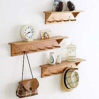 Étagère Support mural en bois massif, étagères murales flottant, mur Cintres Hanging, Affichage Ledge plateau, de charge 3...