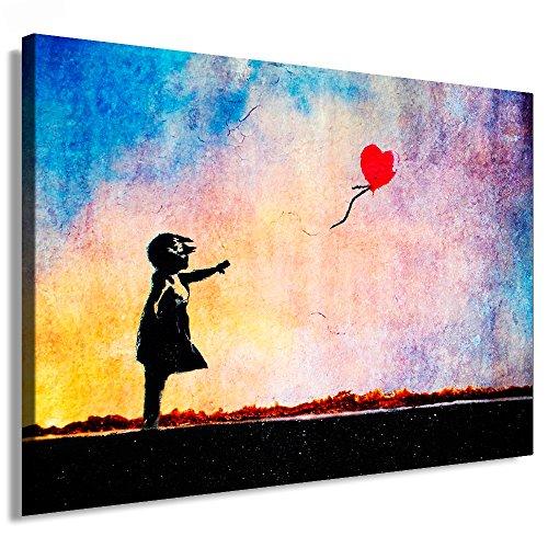 Fotoleinwand24 - Banksy Graffiti Art There is Always Hope / AA0134 / Bild auf Keilrahmen/Bunt / 120x80 cm