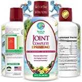 Joint Complete Premium - Liquid Joint Supplement with Liquid Glucosamine Sulfate, Chondroitin, MSM & Hyaluronic Acid – For Bone, Joint Health, Joint Pain Relief - 96% Max Absorption– 32oz, 32 serv