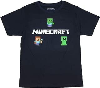 Minecraft Boys Graphic Tee Steve, Zombie Creeper