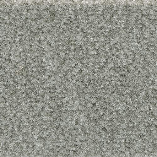Teppichboden Auslegware | Velours gemustert | 400 und 500 cm Breite | hell-grau | Meterware, verschiedene Größen | Größe: 3,5 x 4m