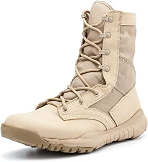 IODSON Mens` Ultra-Light Combat Boots Military Tactical Work Boots