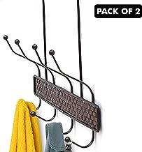 Kurtzy Nail Free Door Hanger Holder Organizer for Clothes Kitchen Bedroom Bathroom (33x20x5 cm)(Pack of 2)