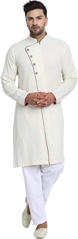 SKAVIJ Men's Tunic Cotton Popular popular Side Button Wedding Pajama D Sales Kurta Set