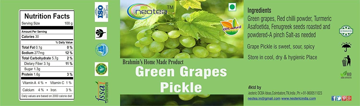 Bellentines Neotea 2021 model Green Grape Pickle gm 300 Special price for a limited time