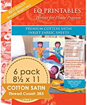 Electric Quilt EQ Printables Premium Cotton Satin Inkjet Fabric Sheets