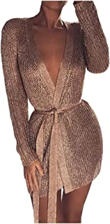 Sentao Womens Vintage Elegant Cardigan Cover Up Blouse Long Sleeve Outwear Tops