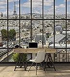 Tapisserie déco poster PARIS LA SEINE 3 x 2,70 m | Déco et photo...