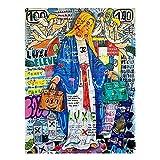 Picasso Pinturas Abstractas Famosas Poster E Impresiones De La Bella Durmiente Cuadros De Arte De Pared De Lienzo Grande para Salon De Estar Decoracion del Hogar 125x70cm Sin Marco