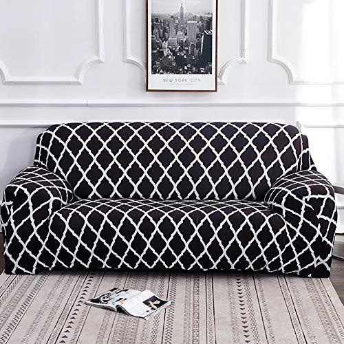 Funda de sofá geométrica elástica elástica Moderna Funda de sofá para Silla Fundas de sofá para Sala de Estar Protector de Muebles A24 1 Plaza
