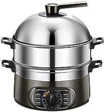 WALNUTA Cuiseur à vapeur, acier inoxydable, à vapeur en acier inoxydable alimentaire à vapeur électrique avec couvercle en...