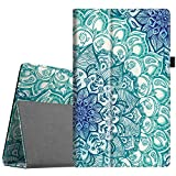 Fintie Folio Case for All-New Amazon Fire HD 10 Tablet (Compatible with 7th and 9th Generations,2017 and 2019 Releases)-Premium PU Leather Slim Fit Stand Cover with Auto Wake/Sleep,Emerald Illusions