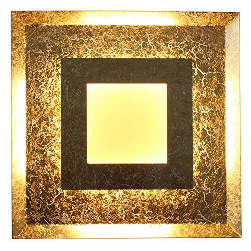 Eco Light LED Deckenleuchte Blattgold Galerie Window 9021 M dimmbar Loft-Lampe Silber Farben 24 Watt 1600 Lumen 3000 Kelvin indirekt Deko Wandleuchte