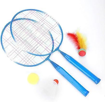 Badminton Racket Ball,2 Players Practice Racket Racquet,Durable Badminton Set with 2 Rackets Ball and Birdie for Indoor Outdoor Sports Children Training Vobor Badminton Set for Kids