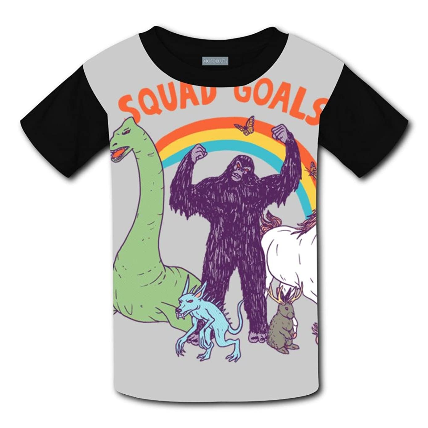 Mmm fight Squad Goals Cryptids Light Weight Tee Shirts 2017 The Latest Version for Girlsfree Postage