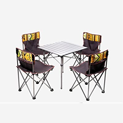 ZZHF Mesas y sillas Plegables Silla de Mesa de Picnic portátil ...