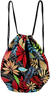 CHIC DIARY Drawstring Backpack Gym Sack Bag Travel Canvas String Bag for Women/Girls