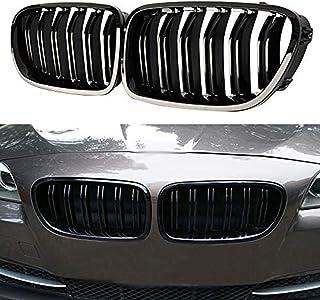 JMY Front Grille/Grilles Kidney Grille Replacement for BMW 2010-2016 F10 5 Series 520i 523i 525i 528i 530i 535i 550i Glossy Black (ABS)